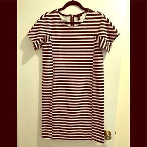 NWT J.Crew Striped T-Shirt Dress